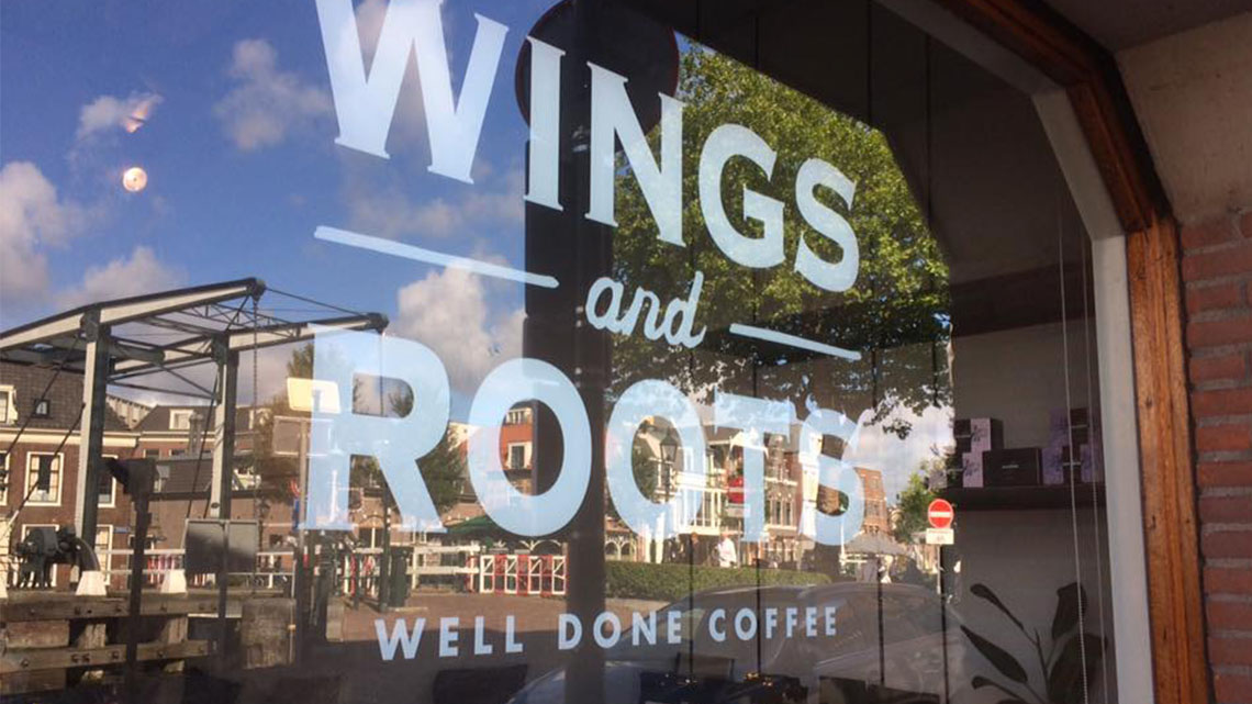 We support Wings and Roots , coffee roasters with a cause